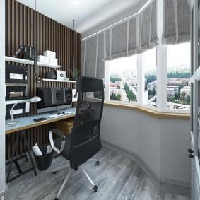 кабинет на лоджии балконе фото идеи