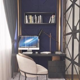 кабинет на лоджии балконе дизайн идеи
