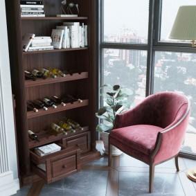 кабинет на лоджии балконе декор идеи