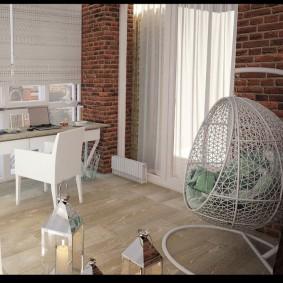 кабинет на лоджии балконе идеи дизайна
