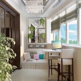 кабинет на лоджии балконе идеи декор