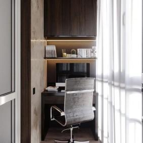 кабинет на лоджии балконе идеи декора