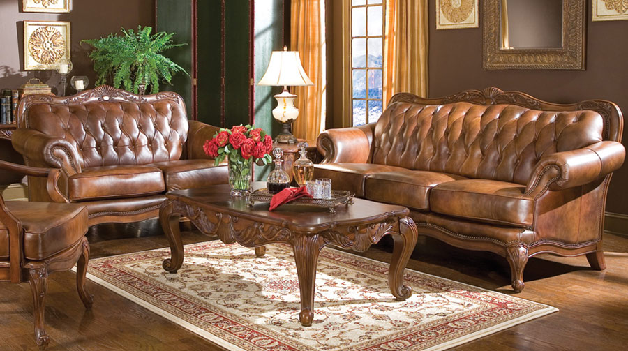 классические диваны кожаные