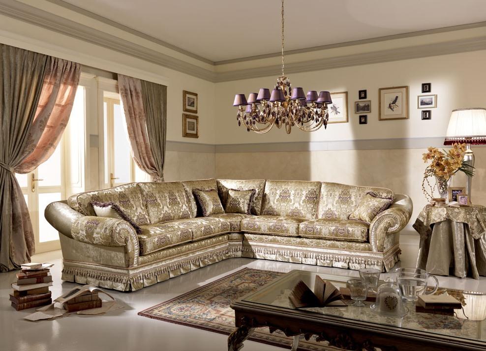 классический диван в гостиной угловой