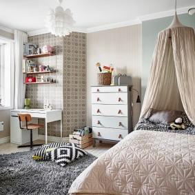комбинирование обоев в квартире фото декора