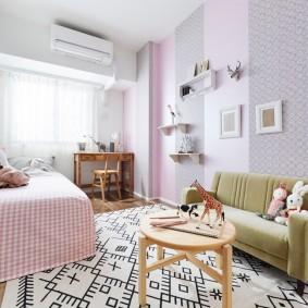 комбинирование обоев в квартире идеи интерьера