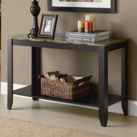 консольный столик в интерьере
