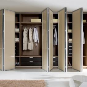 Дверь-гармошка на гардеробном шкафу