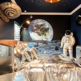 космический интерьер комнаты