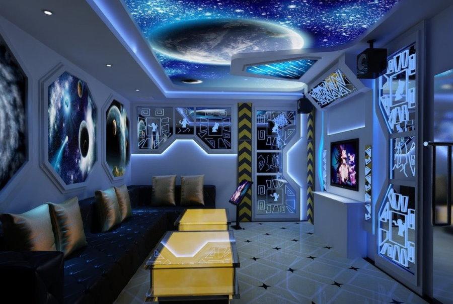 Дизайн комнаты для школьника в космической тематике