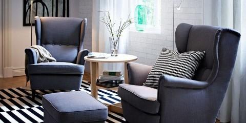 кресла в гостиную однотонные