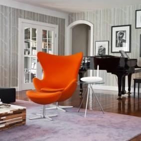 кресло для гостиной и зала виды