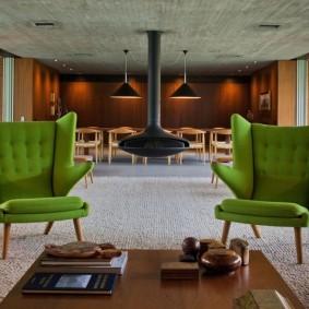 кресло для гостиной и зала декор фото