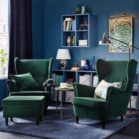 кресло для гостиной и зала фото декор