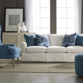 кресло для гостиной и зала декор идеи