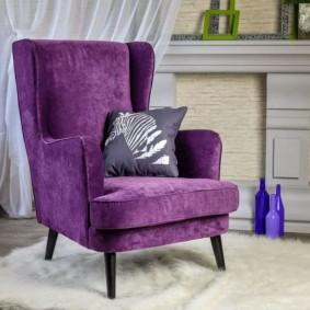 кресло для гостиной и зала интерьер
