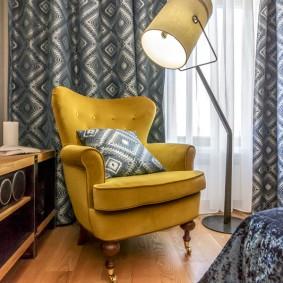 кресло для гостиной и зала интерьер фото