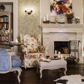 кресло для гостиной и зала интерьер идеи
