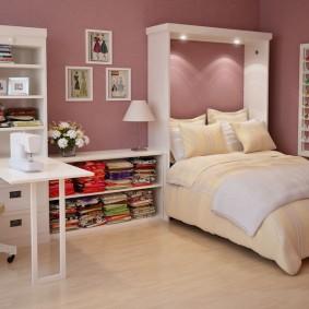 кровать для девочки декор фото