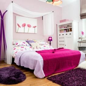 кровать для девочки фото декор