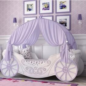 кровать для девочки фото декора