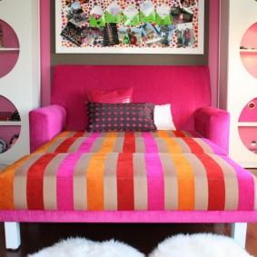 кровать для девочки декор идеи