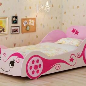 кровать для девочки идеи декора