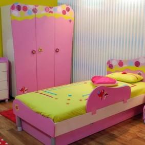 кровать для девочки интерьер