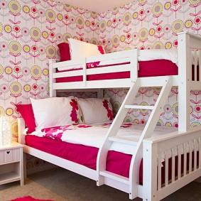 кровать для девочки фото интерьер