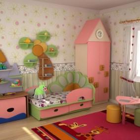 кровать для девочки фото интерьера