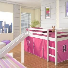 кровать для девочки оформление