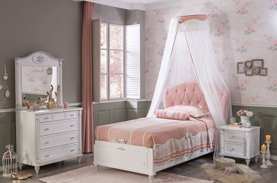 кровать для девочки дизайн фото