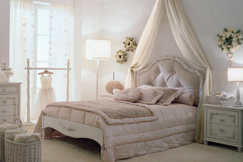кровать для девочки классика