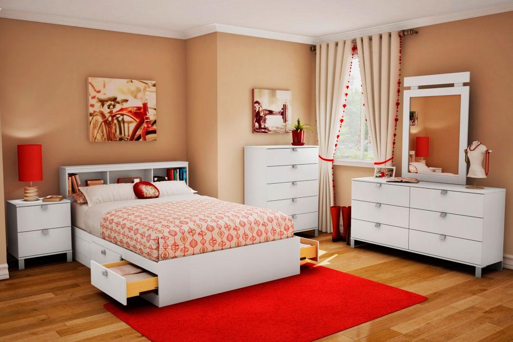 кровать для девочки в современном стиле