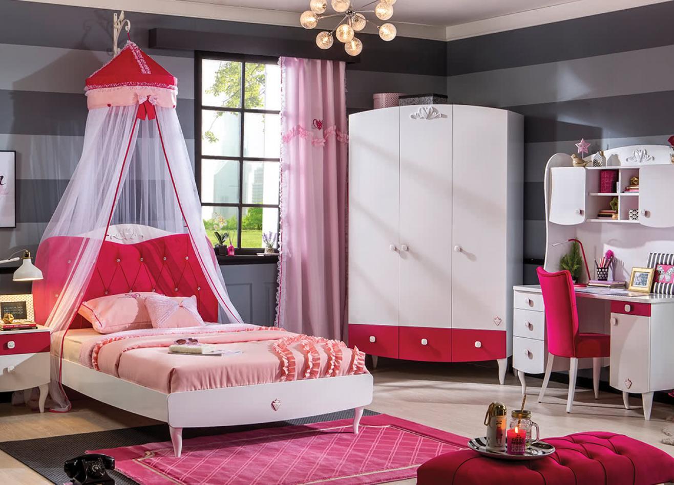 кровать для девочки в современном стиле фото