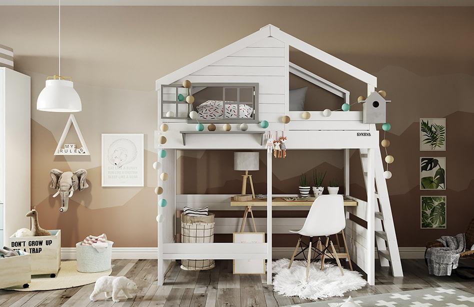 кровать домик современный стиль