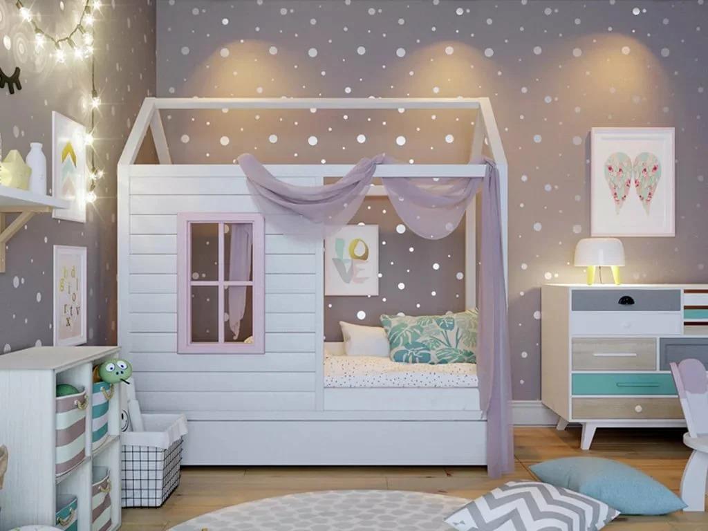кровать домик в детскую