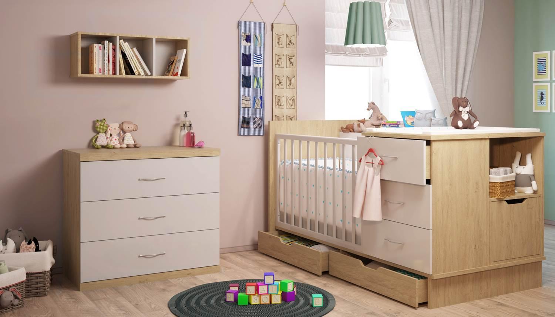 кровать комод в детской