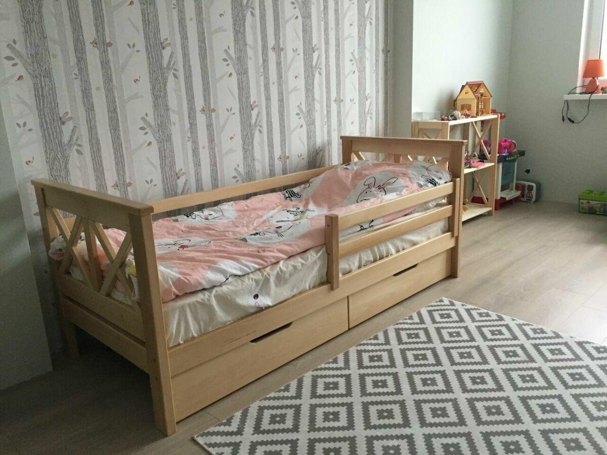 детская кровать массив бука