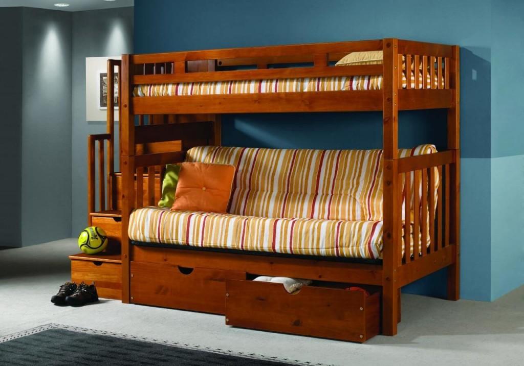 Выдвижные ящики под диваном кровати-чердака
