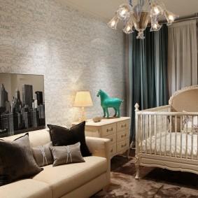 кроватка для новорожденного декор