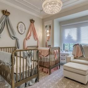 кроватка для новорожденного фото декор