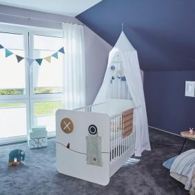 кроватка для новорожденного декор идеи