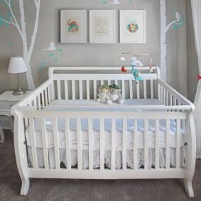 кроватка для новорожденного идеи декора