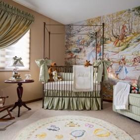 кроватка для новорожденного в интерьере фото