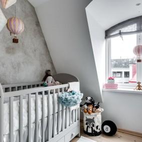 кроватка для новорожденного фото интерьера