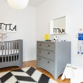 кроватка для новорожденного в интерьере идеи