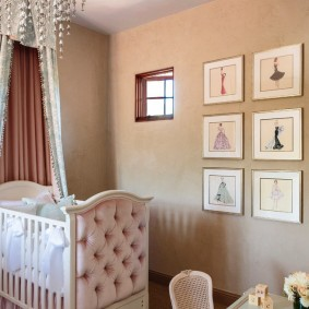 кроватка для новорожденного оформление