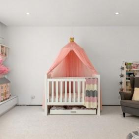 кроватка для новорожденного фото оформление