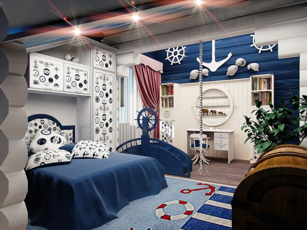 кроватка морской стиль